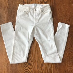 [Closed] White Stretch Denim Skinny Jeans